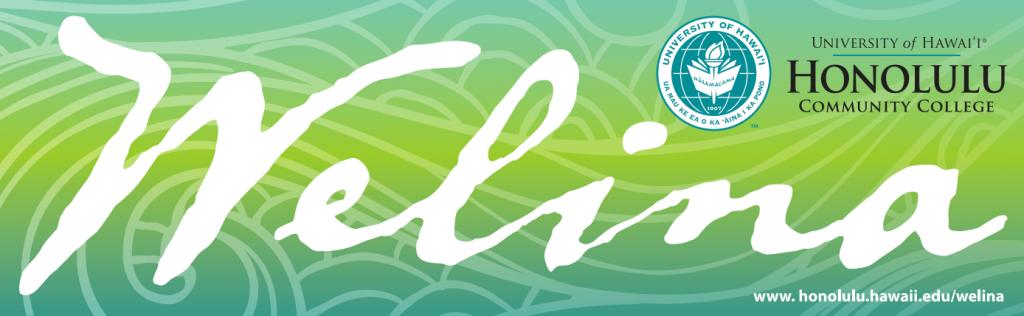 Image of HonCC logo with the Hawaiian word welina.