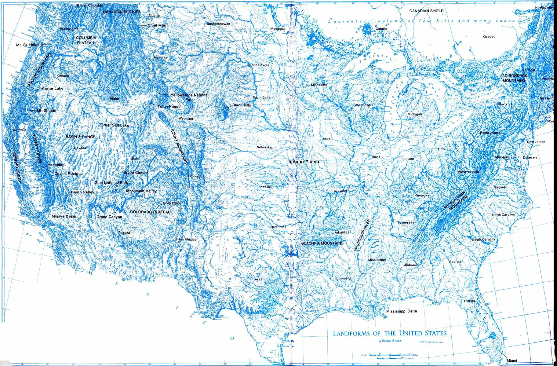 Map Usa Rivers And Mountains Map Images Shaded Relief Map Of - Us map appalachian mountains